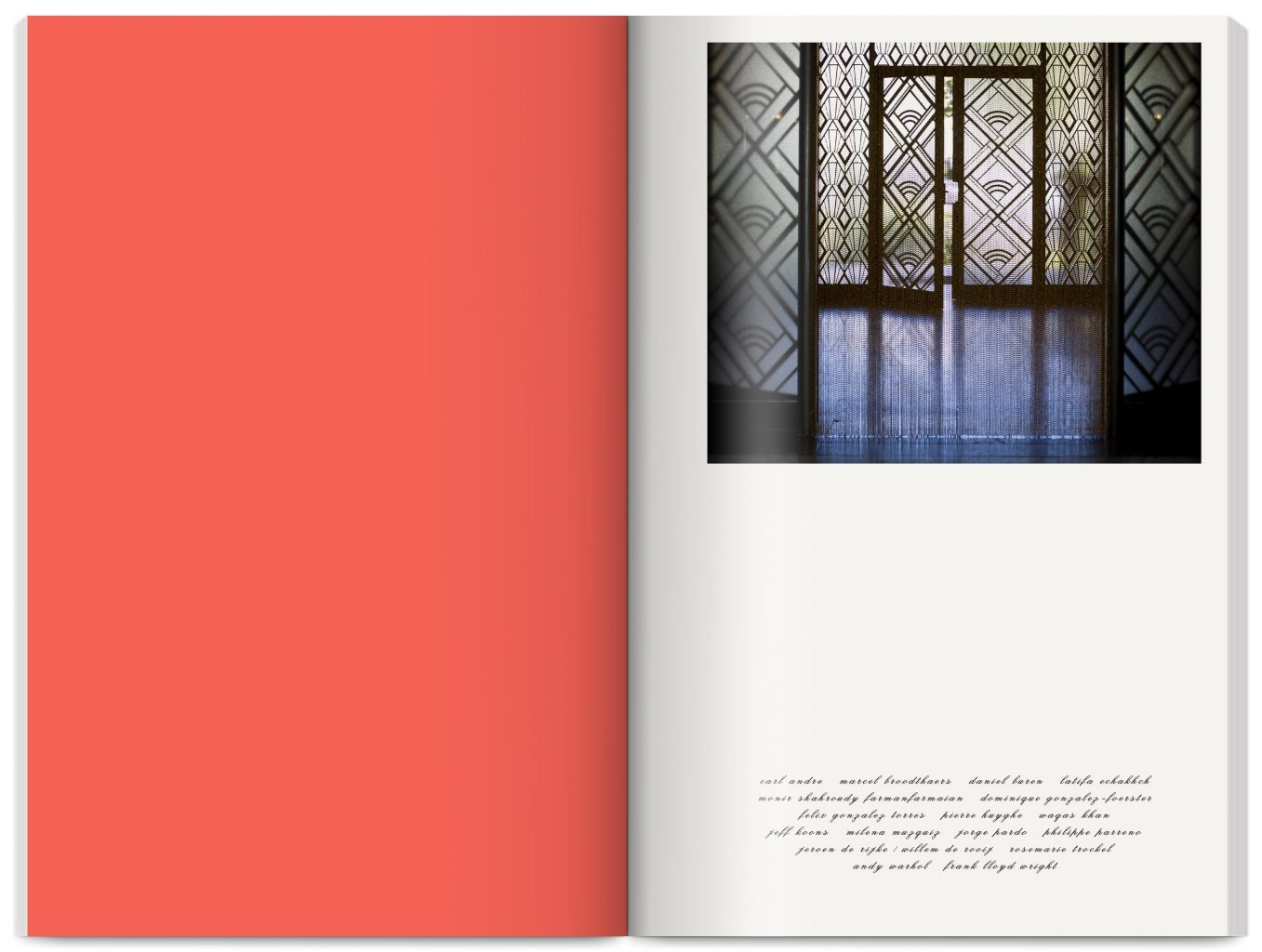 Publication Decor edited by Tino Sehgal, Dorothea von Hantelmann, Asad Raza, published by Villa Empain Fondation Boghossian, designed by In the shade of a tree studio, founded by Sophie Demay and Maël Fournier Comte.