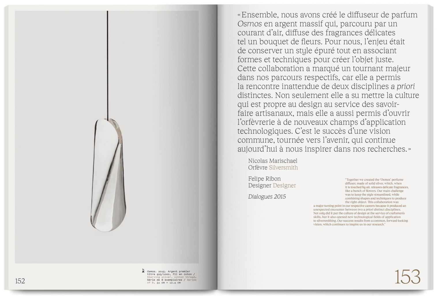 Exhibition catalogue L'esprit commence et finit avec les mains at the Palais de Tokyo published by Flammarion, designed by In the shade of a tree studio, founded by Sophie Demay and Maël Fournier Comte.